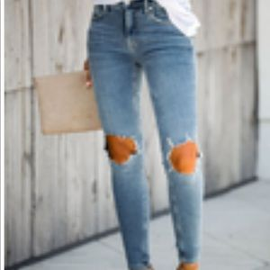 Busted high rise skinny jeans